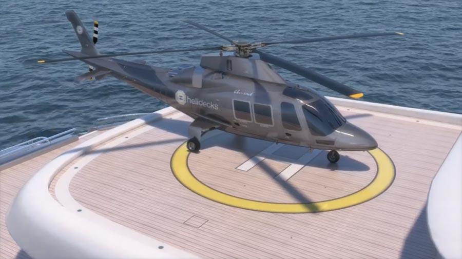 Modellazione e render di pattaforma per elicotteri - fststudio