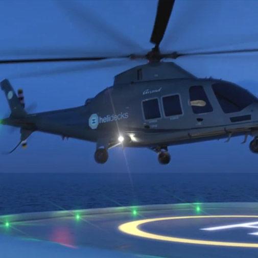 Render piattaforma per elicotteri fststudio
