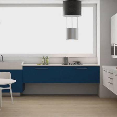 Modellazione 3d ambiente cucina