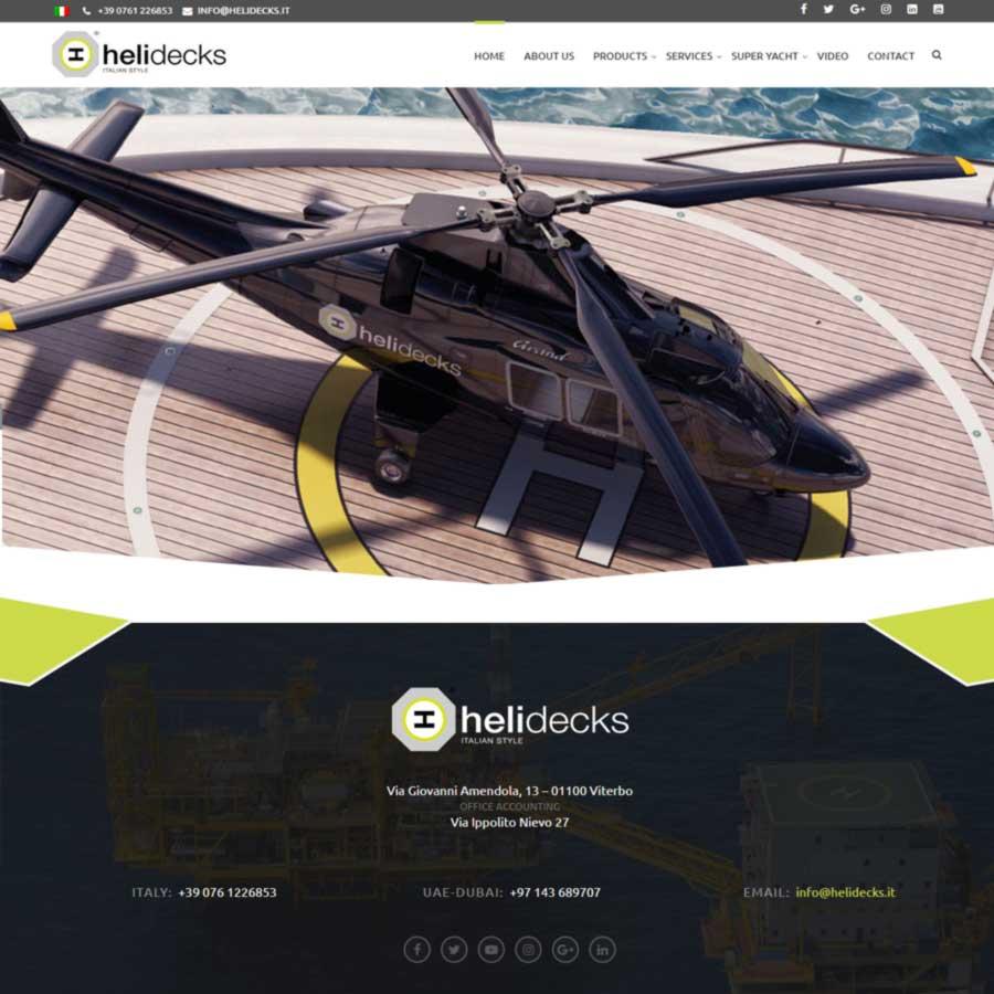 Fststudio.com realizzazione sito web Helidecks